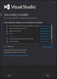安装VS2015时 Can't start SecondaryInstaller again after it failed 解决方案